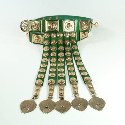 cingulum-imperiale-placche-lisce--bronzo-smalto-verde